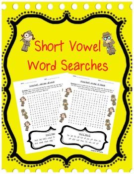 Short Vowel Review: Word Hunts