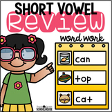 Short Vowel Review Word Work CVC Words