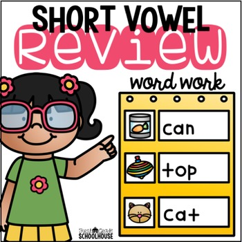 Short Vowel Review Word Work CVC Words