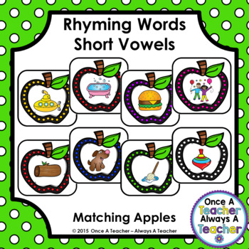 Short Vowel Rhyming Words - Apple Match