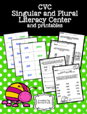 CVC Singular and Plural Literacy Center Matching Game and