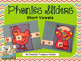 Short Vowel Sliders ~ 26 sliders & recording pages ELA Kinder 1st