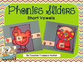 Short Vowel Sliders ~ 26 sliders & recording pages ELA Kinder 1st