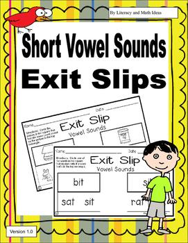 Short Vowel Sound Exit Slips