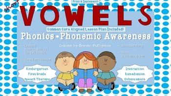 Short Vowel Sounds - 5 Lessons Printable!