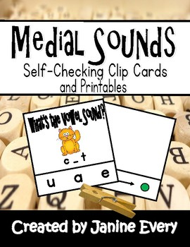 Short Vowel Sounds Clip Cards