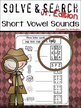 Short Vowel Sounds - Solve and Search Jr. Edition {Set 1}