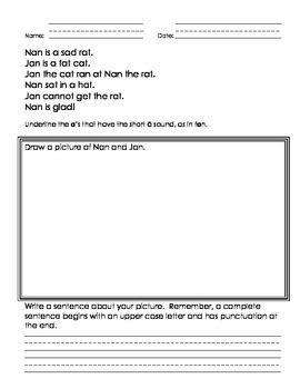 Short Vowel Stories and Activities
