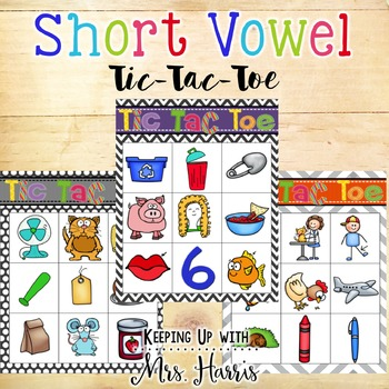 Short Vowel Tic-Tac-Toe Games