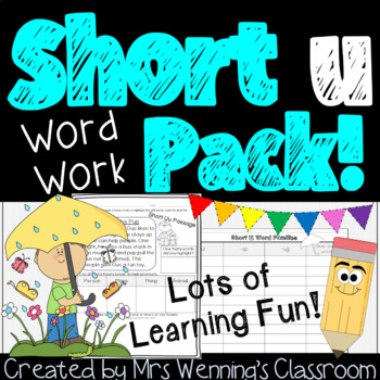 Short Vowel U, a Full Week of Lesson Plans and Activities!