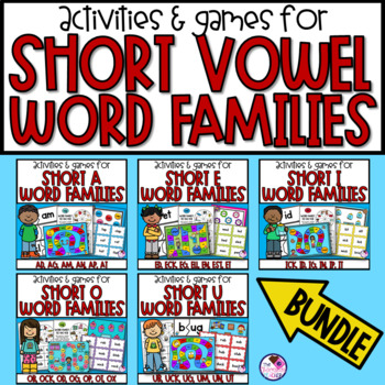 Short Vowel Word Families Games and Activities **Bundle**