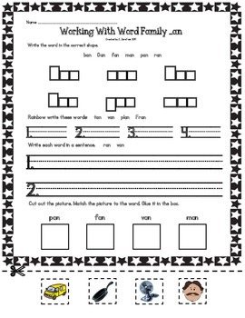 Short Vowel Word Families: Working with Word Families
