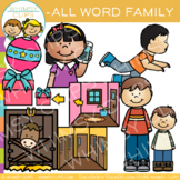Short Vowel Word Family Clip Art  -ALL Words