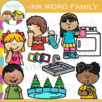 Short Vowel Word Family Clip Art -INK Words
