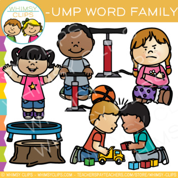 Short Vowel Word Family Clip Art - UMP Words