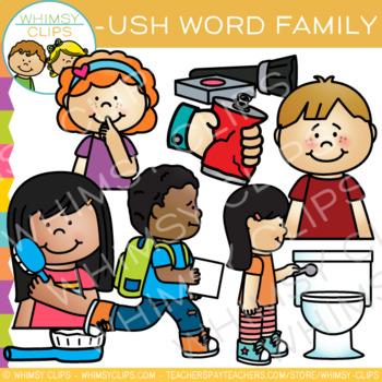 Short Vowel Word Family Clip Art -USH Words