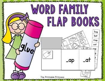 Flap Books: Short Vowel Word Families