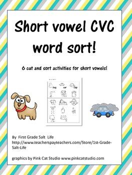 Short Vowel Activity Sort
