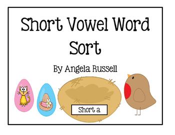 Short Vowel Word Sort