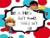 Short Vowel Word Sort Kit - Word Cards, Sorting Mats, Reco