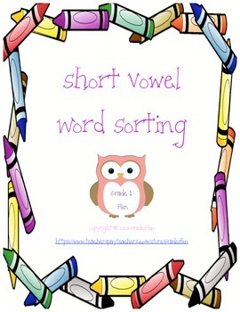 Short Vowel Word Sorting