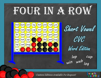 Short Vowel Words (CVC) Four in a Row