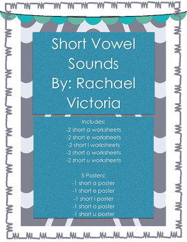 Short Vowel Worksheets & Posters