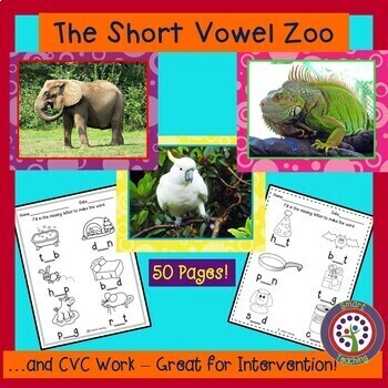 CVC Short Vowel Practice Pages and Posters  - Kinder and F