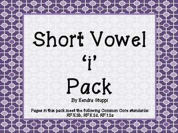 Short Vowel 'i' Pack
