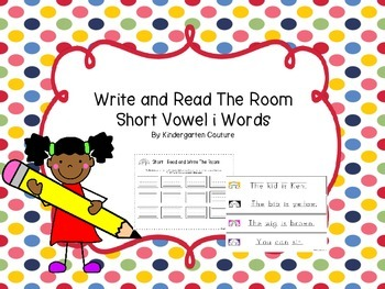 Short Vowel i Write And Read The Room