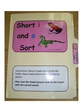 """Short Vowel """"i"""" & """"o"""": File Folder"""