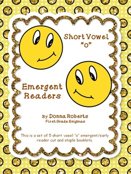 "Short Vowel ""o"" Cut and Staple booklets Emergent Early Readers"