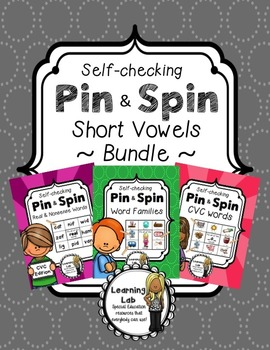 Short Vowels BUNDLE - A Pin & Spin Activity