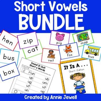 Short Vowels BUNDLE -Activities, Flashcards, Printables, R