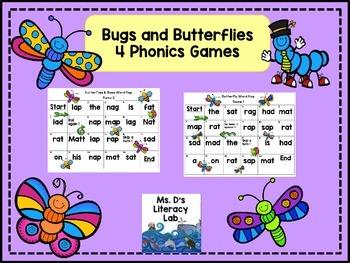 CVC-Short Vowels (Bugs & Butterflies)