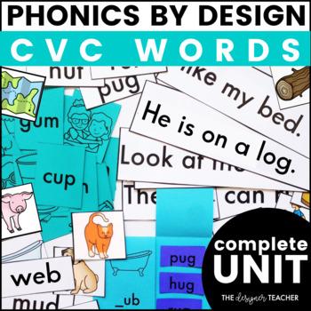 Phonics By Design Short Vowels CVC Word 25-Day Unit BUNDLE