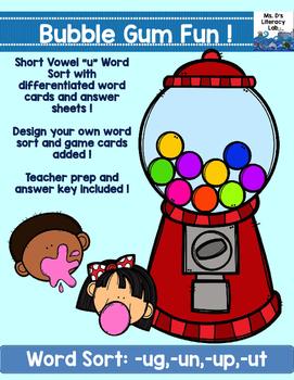 Short U Word Families (Gum)