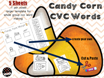 Short Vowels: Candy Corn Words (cut and paste)