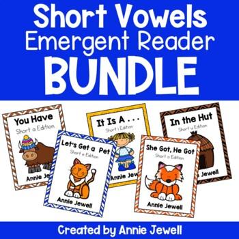 Short Vowels Emergent Readers BUNDLE - 5 Readers - Several
