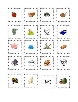 Short Vowels Flash Cards Cut Out Paste Match a e i o u  Ki