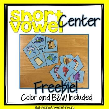 Short Vowels Literacy Center FREEBIE