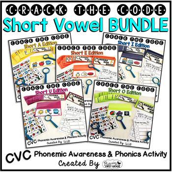 Short Vowels Phonemic Awareness & Phonics Activity BUNDLE
