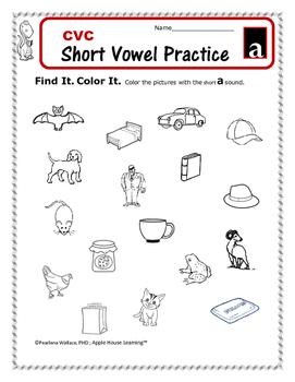 Phonological Awareness:  Short Voewl 'A' – CVC Word Activities