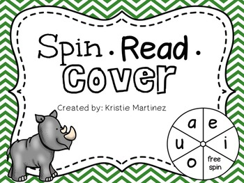 Short Vowels:  Spin-Read-Cover