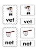 Short Vowels CVC Three-Part Cards (Nomenclature Cards)