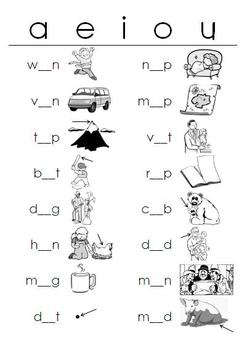 Printables Vowel Worksheets short vowels worksheets fill in the blanks by reading writing blanks