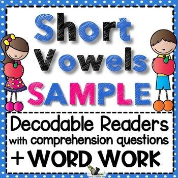 Short Vowels Word Work Bundle Free Sample
