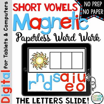 Short Vowels Word Work for PowerPoint Use (CVC Words & Med