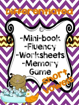 Short Vowels pack Differentiated! ( Mini-Books, Worksheets