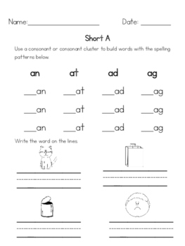 Short Vowels with Spelling Patterns